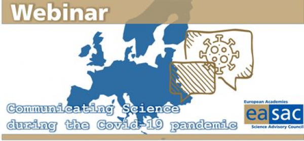 EASAC organised webinar on Communicating Science during the Covid-19 pandemic